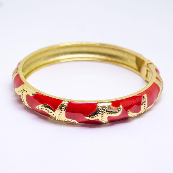 Enamel Bracelet Bangle - Starfish Style