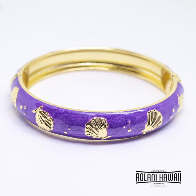 NEW - Enamel Bracelet Bangle - Seashell Style