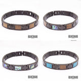 New - Turquoise Inlay Ion Plated Black Stainless Steel Bracelet