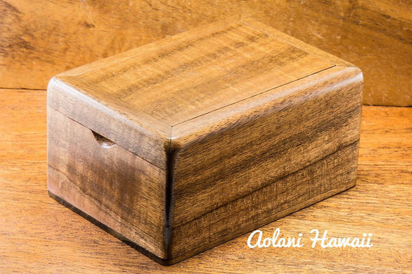 Hawaiian Koa Box for Keepsake Jewelry Gift - Aolani Hawaii - 2
