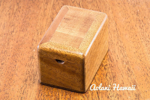 Hawaiian Koa Box for Keepsake Jewelry Gift - Aolani Hawaii - 3