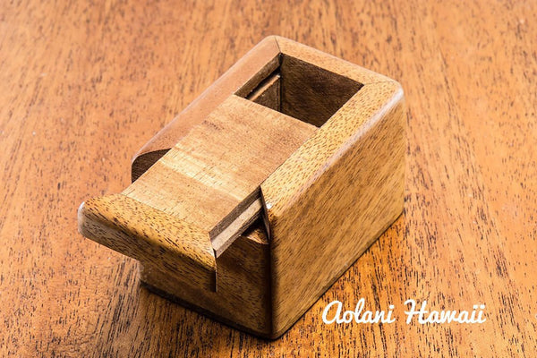 Hawaiian Koa Box for Keepsake Jewelry Gift - Aolani Hawaii - 4