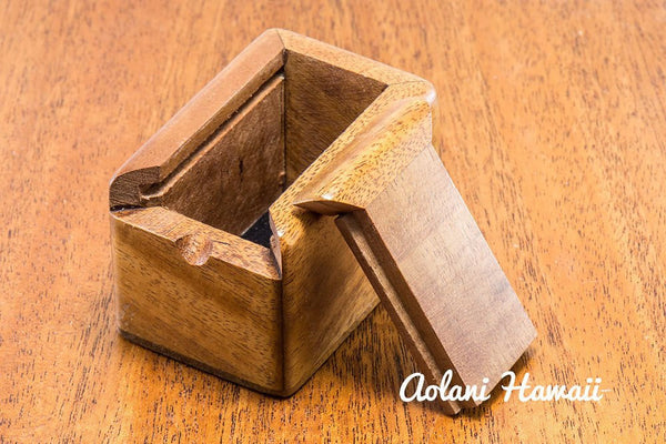 Hawaiian Koa Box for Keepsake Jewelry Gift - Aolani Hawaii - 5