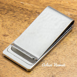 Koa Wood Stainless Steel Money Clip - Aolani Hawaii - 2