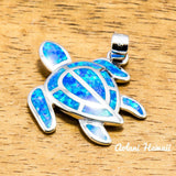 Hawaii Turtle Pendant Handmade with 925 Sterling Silver (20mm x 25mm FREE Stainless Chain Included) - Aolani Hawaii - 1