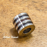 Stainless Tube Pendant - Hawaiian Koa Wood Stainless Steel Barrel Pendant (11mm, Free Stainless Chain included) - Aolani Hawaii - 1