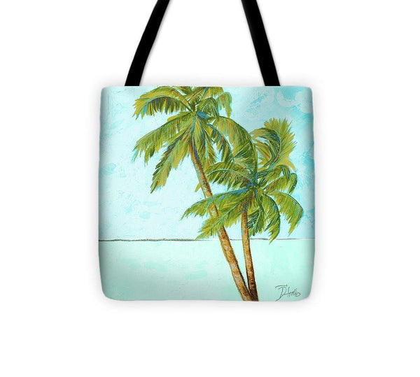 Hawaiian Beach Palm Blue I Tote Bag
