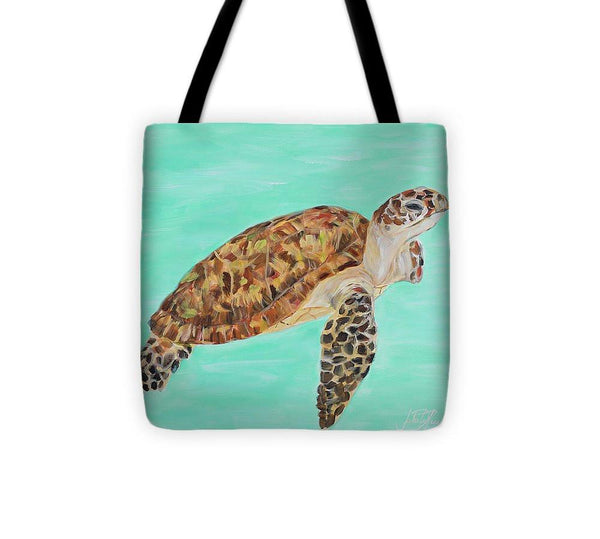 Hawaiian Sea Turtle Honu I Tote Bag