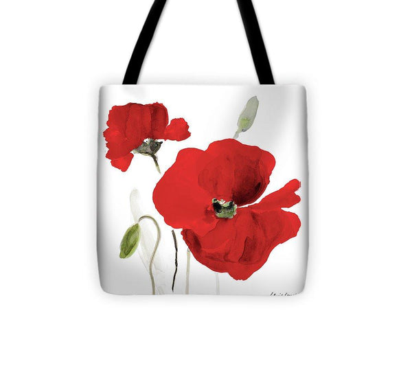 All Red Poppies I Tote Bag