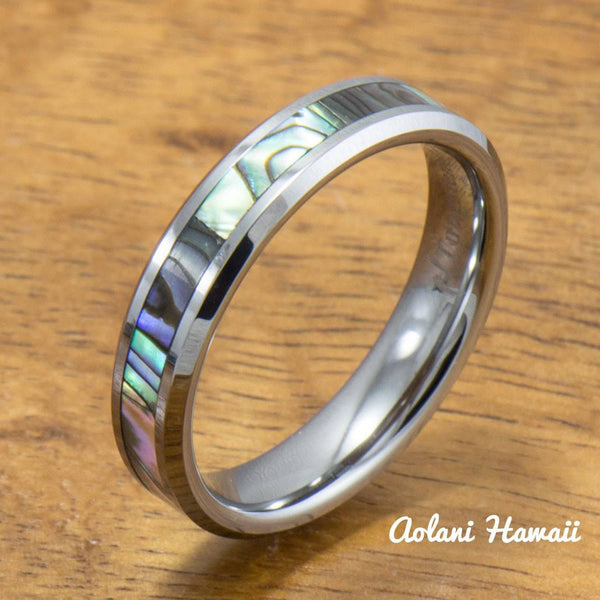 Black Ceramic and Tungsten Pair Rings (5mm & 8mm width) - Aolani Hawaii - 3