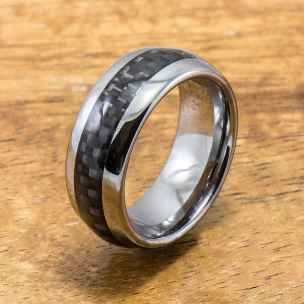 Fiberglass Ring Handmade with Tungsten (6mm width, barrel style)