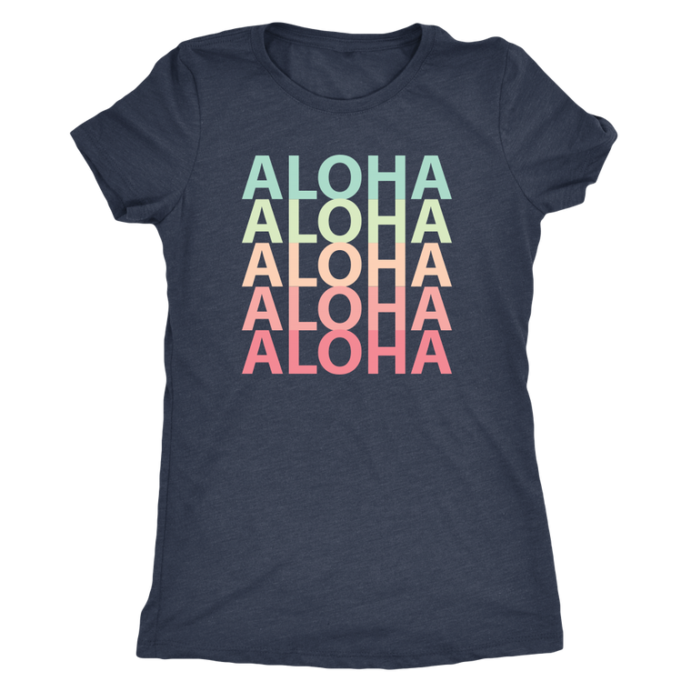 Womens Rainbow Aloha Logo T-Shirt