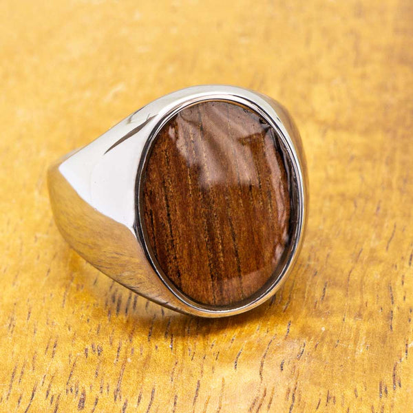 New - Tungsten Class Ring with Koa Wood
