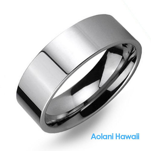 Tungsten Ring with High Polished Mirror Finish (8mm width)