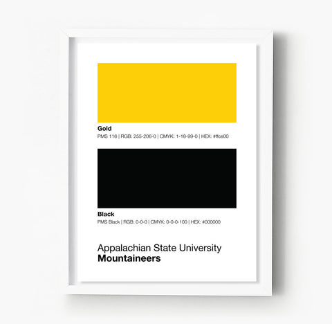 Big 10 Gameday Colors Print