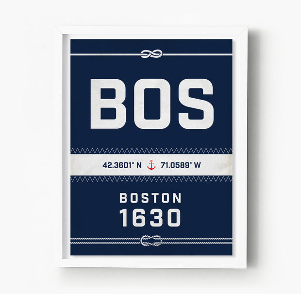 Boston Nautical Sail Print