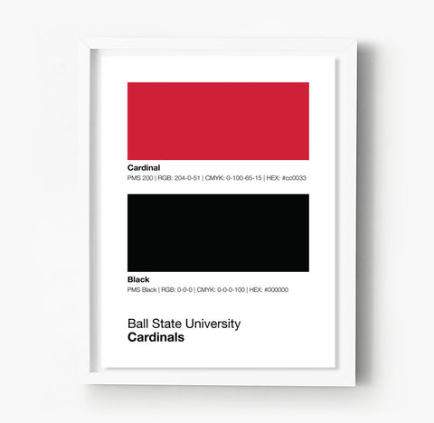 Arkansas Razorbacks Gameday Colors Print