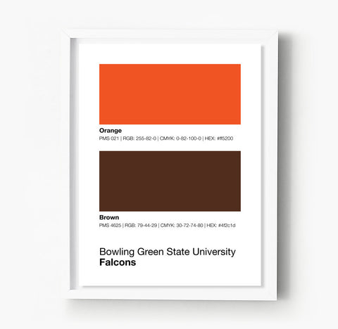 University Of Tennessee Vols Gameday Colors Print