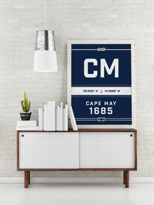 Cape May Nautical Sail Print