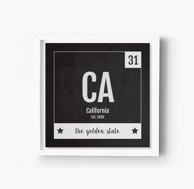 California US State Print