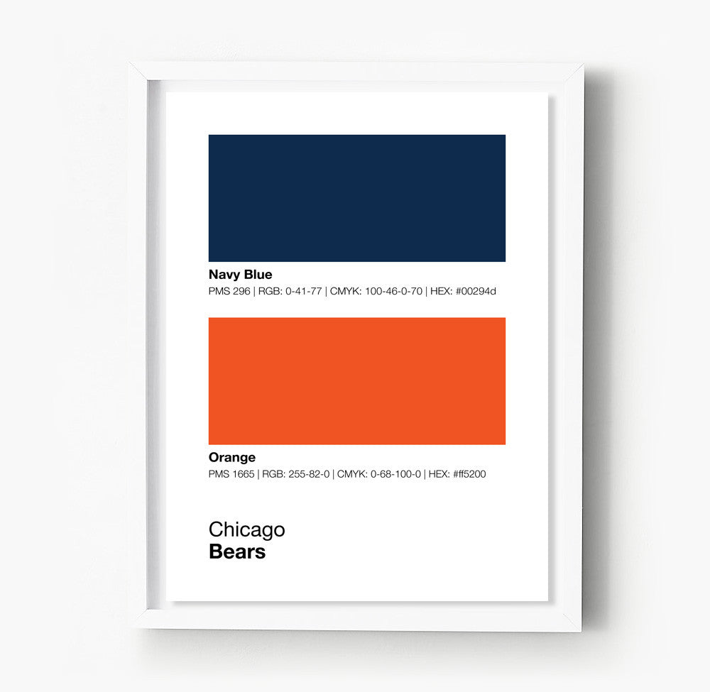 Chicago Bears Colors Print – Sproutjam
