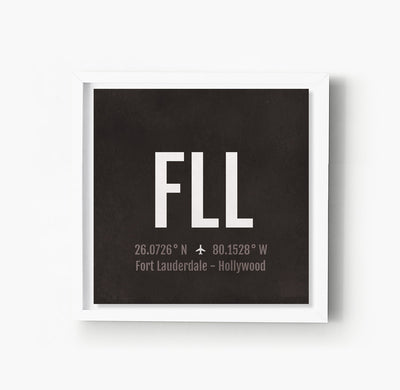 Fort Lauderdale Hollywood FLL Airport Code Print