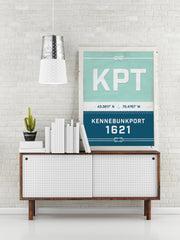 Kennebunkport Nautical Sail Print