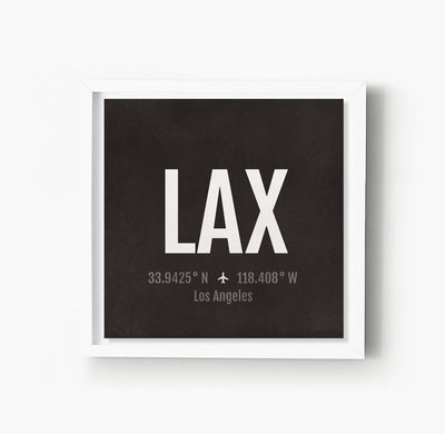 Los Angeles LA LAX Airport Code Print