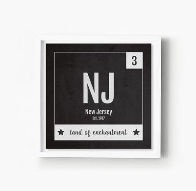 New Jersey US State Print