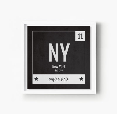 New York US State Print
