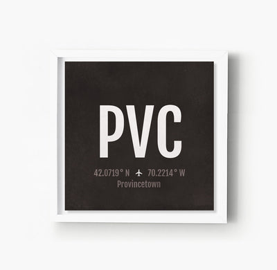 Provincetown Ptown PVC Airport Code Print