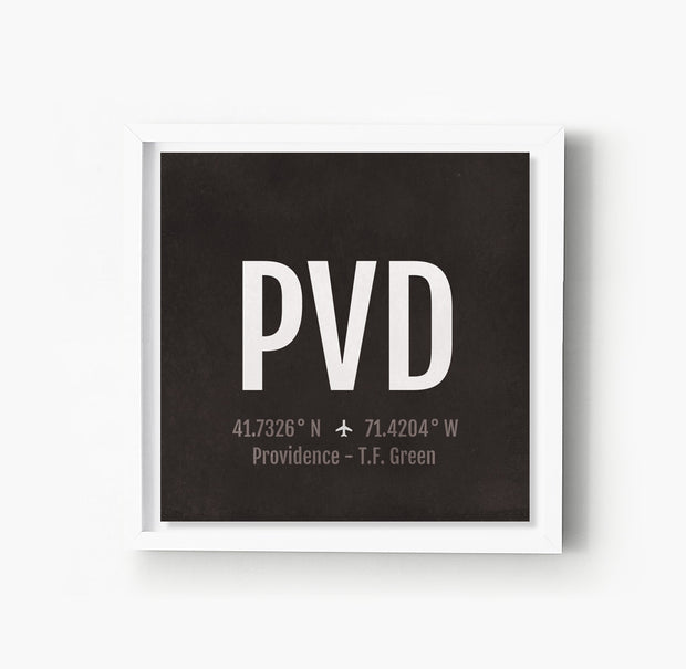 Providence PVD Airport Code Print
