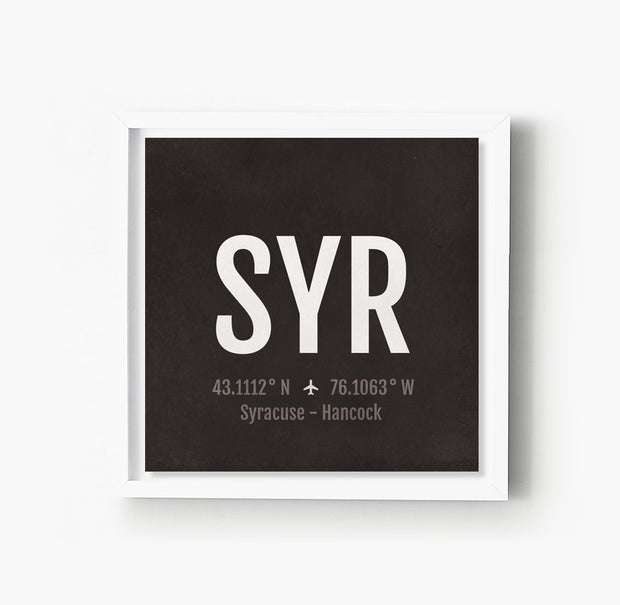 Syracuse SYR Airport Code Print