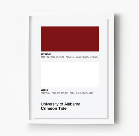 Carolina Hurricanes Gameday Colors Print