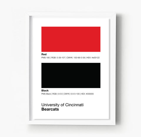 Ball State Cardinals Gameday Colors Print