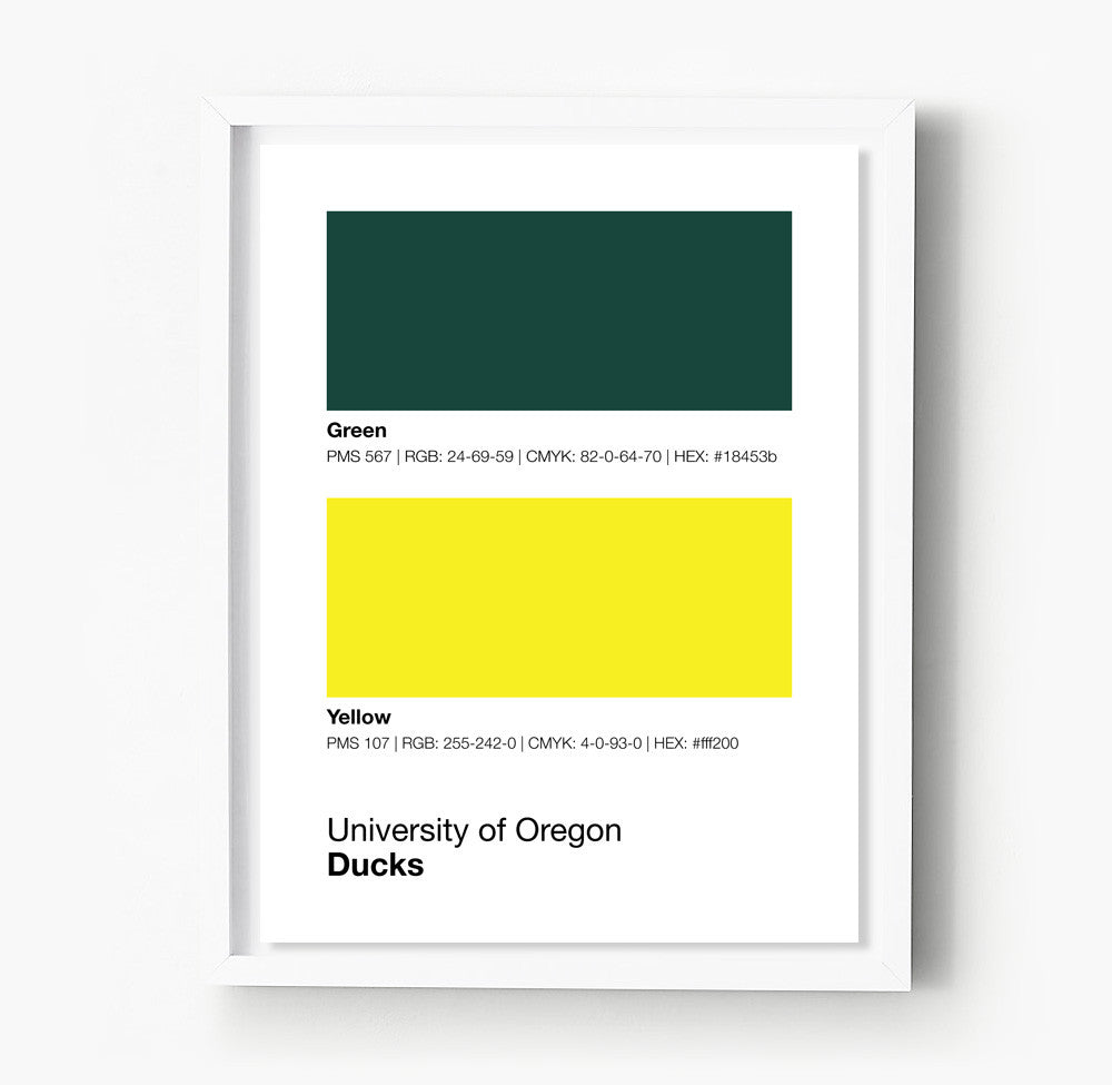 Color printing ucla - Game Day Colors Oregon Oregon Ducks Posters