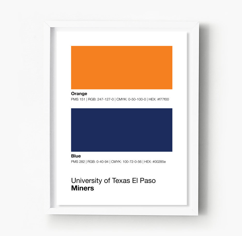Color printing el paso tx -  Utep Miners Posters