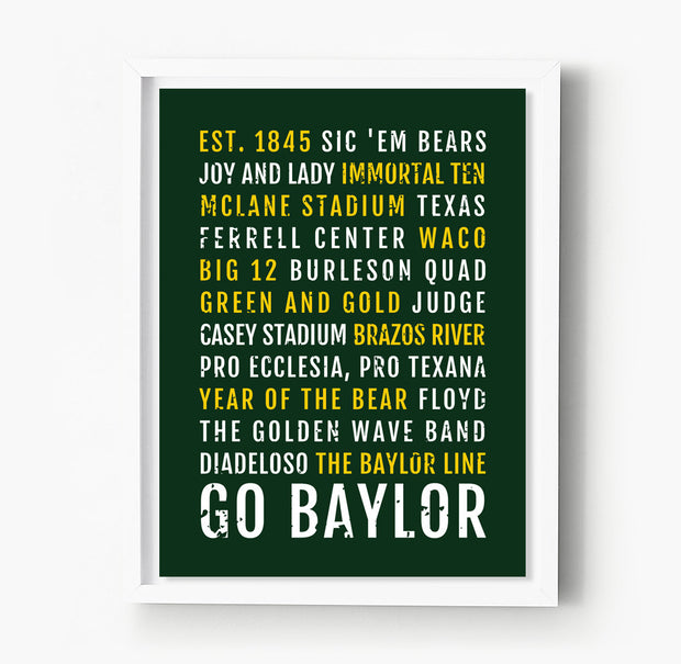 Baylor University Subway Poster