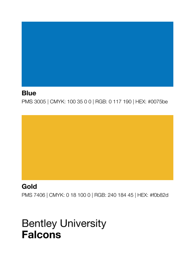 bentley-university-falcons-colors