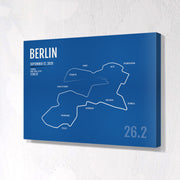 Berlin Marathon Map Print - Personalized for 2020