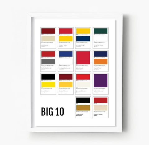 Oklahoma Sooners Gameday Colors Print