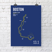 Boston Half Marathon Map Print - Personalized for 2019
