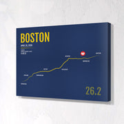 Boston Marathon Map Print - Personalized for 2020