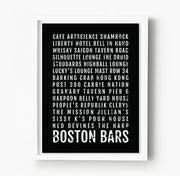 Boston Bars and Restaurants Subway Poster