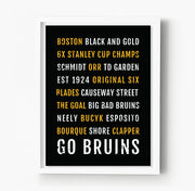 Boston Bruins Subway Poster