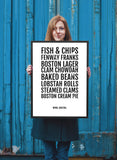 Boston City Foods Print