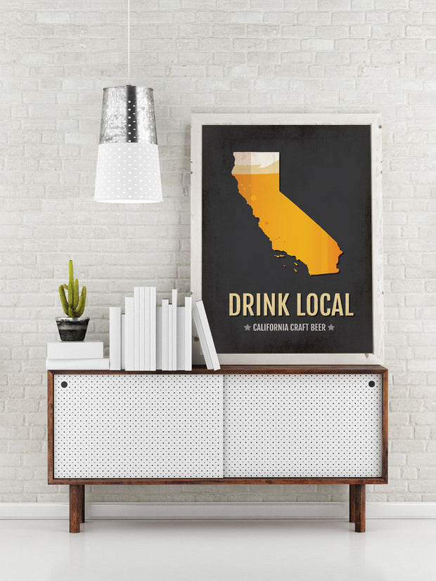 California Beer Print Map
