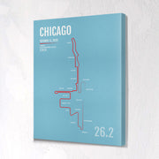 Chicago Marathon Map Print - Personalized for 2020
