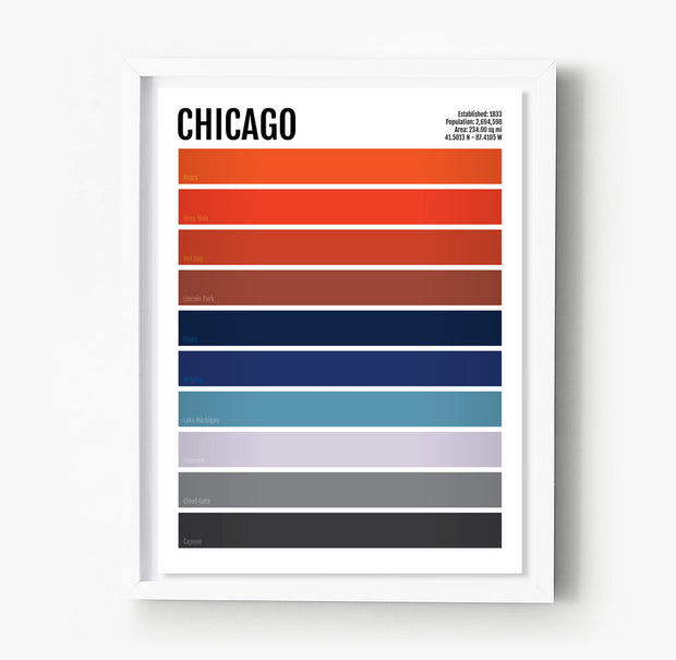 Chicago Iconic Colors Print