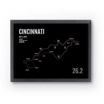 Cincinnati Flying Pig Marathon Map Print - Personalized for 2020